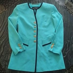 LOUIS FERAUD - cerulean gold button jacket